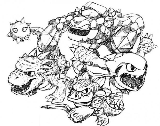Coloriage skylanders dessin anim dessin gratuit imprimer - Dessin de skylanders ...