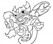 Coloriage Skylanders Fire Kraken