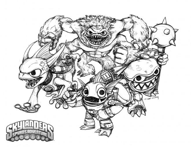 Coloriage et dessins gratuits Skylanders Giants à imprimer