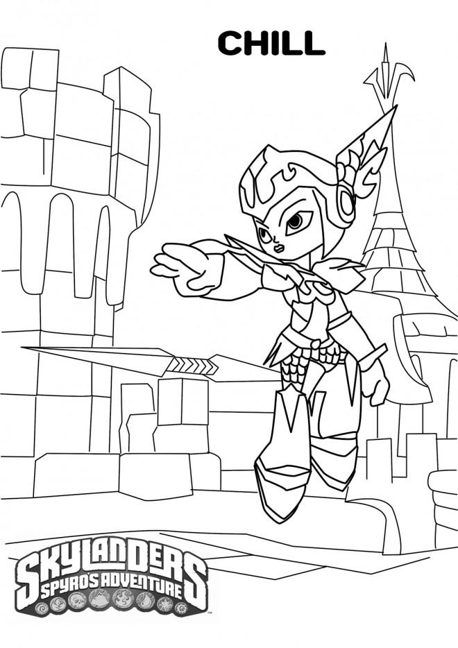 Coloriage et dessins gratuits Skylanders Giants Chill à imprimer