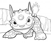 Coloriage et dessins gratuit Skylanders Giants Dragon à imprimer