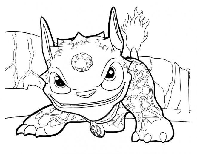 Coloriage et dessins gratuits Skylanders Giants Dragon à imprimer