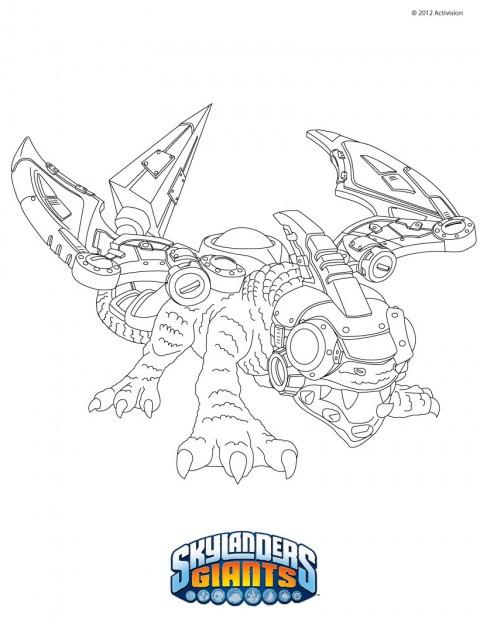 Coloriage et dessins gratuits Skylanders Giants Drobot à imprimer