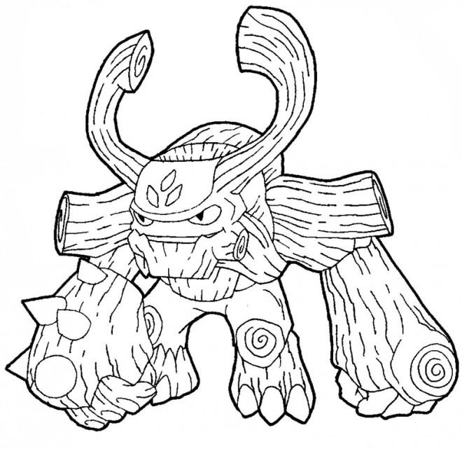 Coloriage Skylanders Giants facile dessin gratuit à imprimer