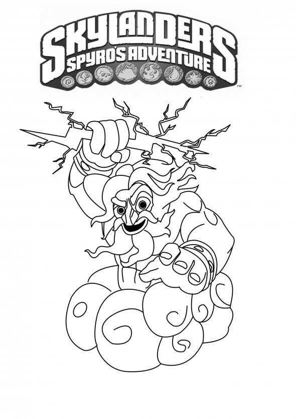 Coloriage skylanders giants thunderbolt dessin gratuit - Coloriage skylanders giants ...