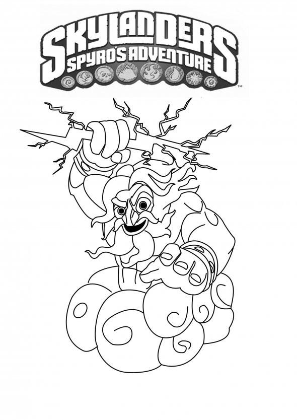 Coloriage skylanders giants thunderbolt dessin gratuit imprimer - Dessin de skylanders ...