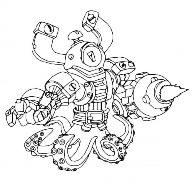Coloriage et dessins gratuits Skylanders Giants Wash Buckler à imprimer