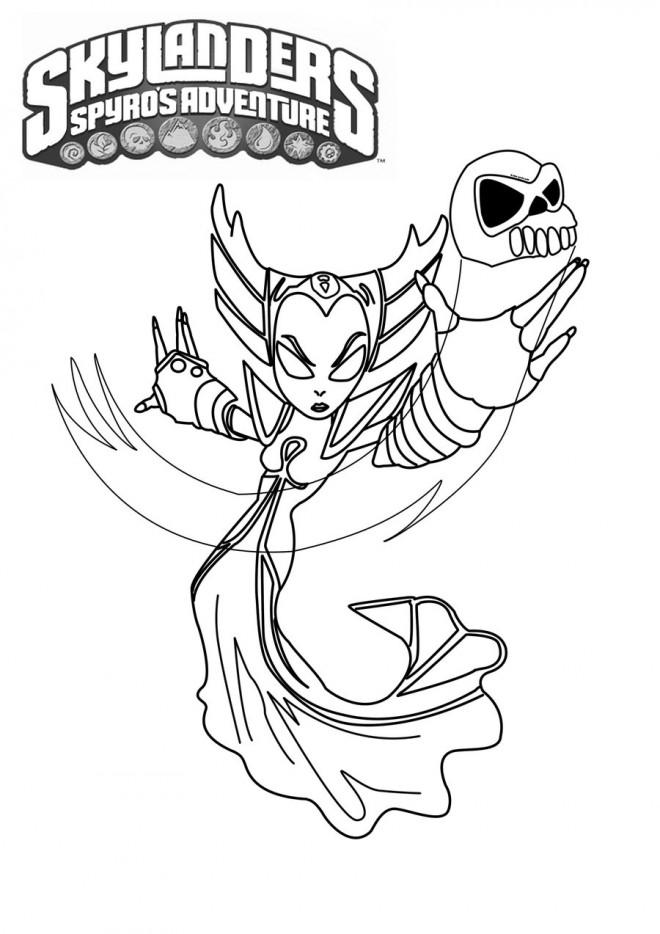 skylanders trap team coloring pages golden queen | Coloriage Skylanders Golden Queen dessin gratuit à imprimer