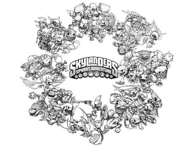 Coloriage et dessins gratuits Skylanders Imaginators à imprimer