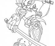 Coloriage et dessins gratuit Skylanders Ninjini à imprimer