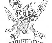 Coloriage et dessins gratuit Skylanders Spyro à imprimer