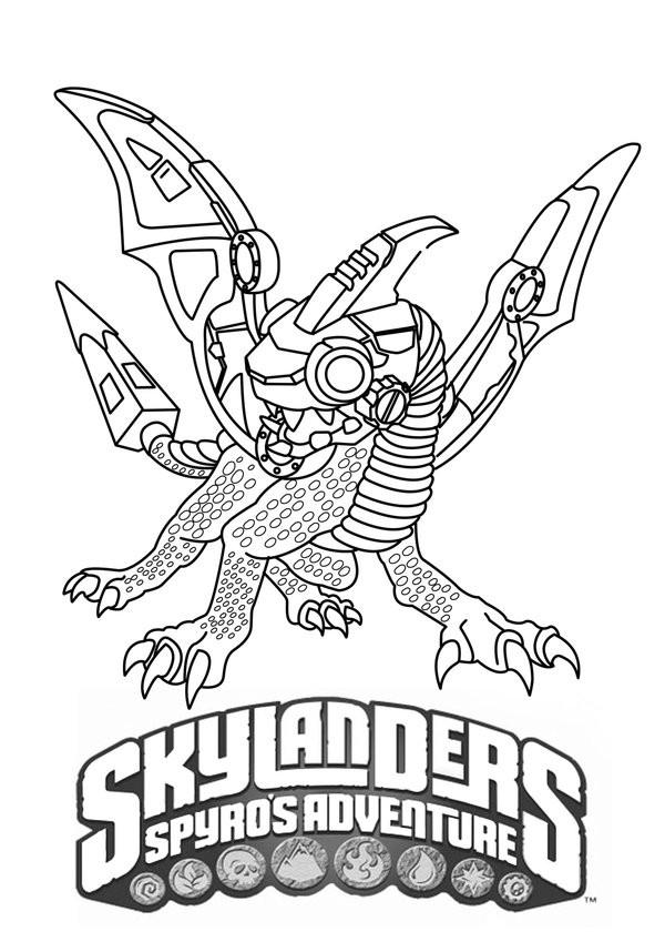 Coloriage et dessins gratuits Skylanders Spyro à imprimer
