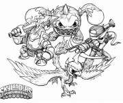Coloriage Skylanders Spyro's adventure facile
