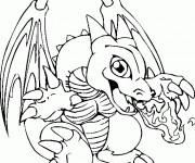 Coloriage Skylanders Sunburn le dragon de feu