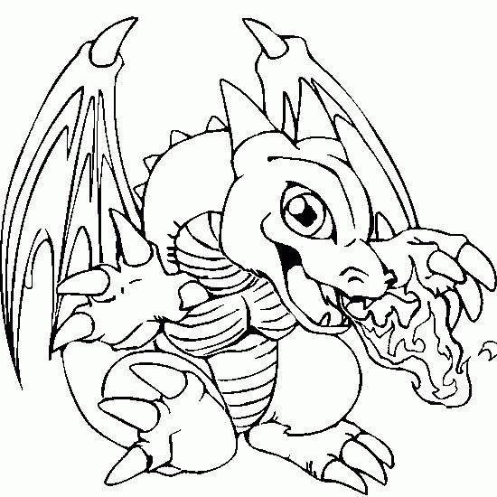Coloriage et dessins gratuits Skylanders Sunburn le dragon de feu à imprimer