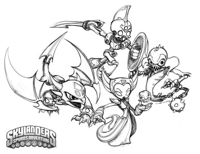 Coloriage et dessins gratuits Skylanders Swap Force à imprimer