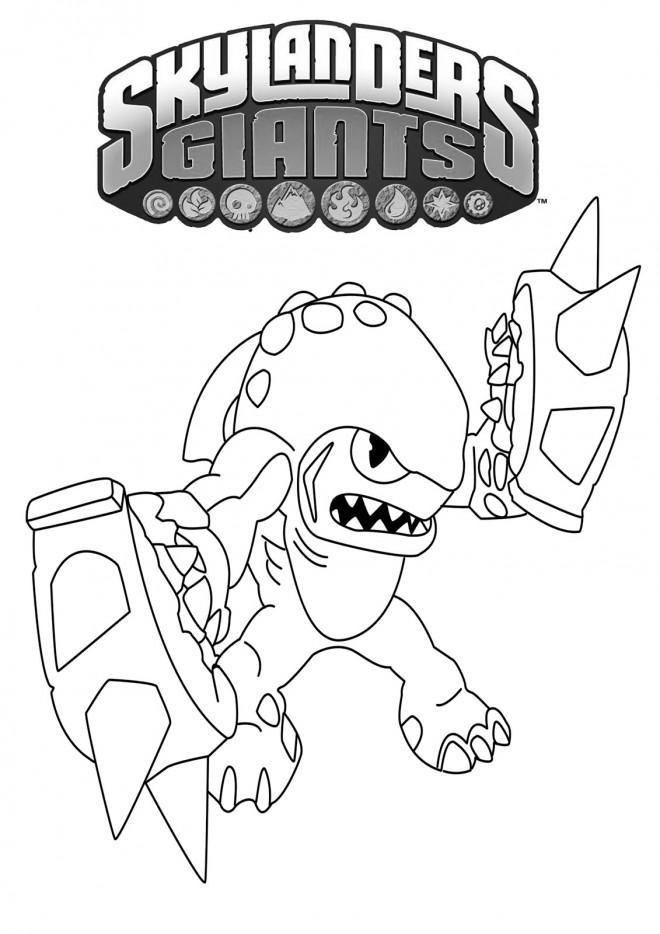 Coloriage et dessins gratuits Skylanders Terrafin à imprimer