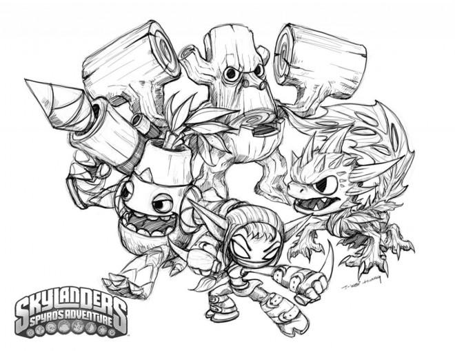Coloriage Skylanders Trap Team