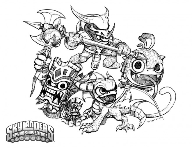 Skylanders hot head coloring pages ~ Coloriage Skylanders Trap team dessin gratuit à imprimer