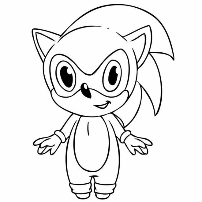 Coloriage et dessins gratuits bébé Sonic à imprimer