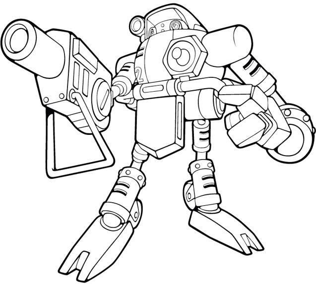 Coloriage et dessins gratuits robot méchant à imprimer à imprimer