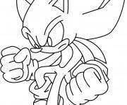 Coloriage et dessins gratuit Sonic à imprimer en ligne à imprimer