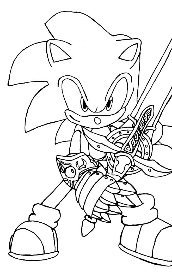 Coloriage sonic avec p e dessin gratuit imprimer - Sonic gratuit ...