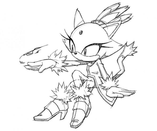 Dibujos De Sonic Para Imprimir Y Colorear: Coloriage Sonic Blaze Dessin Gratuit à Imprimer