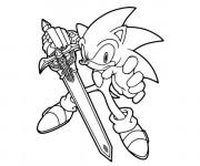 Coloriage et dessins gratuit Sonic en ligne gratuit à imprimer