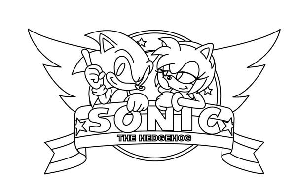 Coloriage sonic et amy imprimer dessin gratuit imprimer - Dessin anime sonic ...