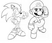 Coloriage Sonic Et Mario Dessin Gratuit A Imprimer