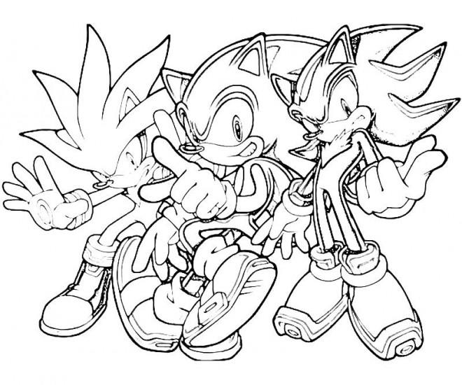 Coloriage Sonic Et Ses Amis En Ligne Dessin Gratuit à Imprimer