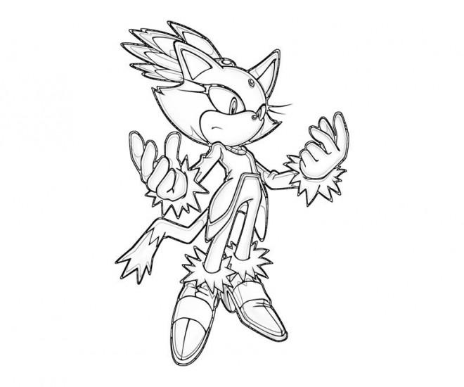 Coloriage et dessins gratuits Sonic facile à imprimer
