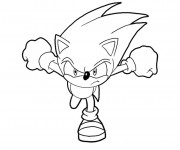Coloriage Sonic fonce