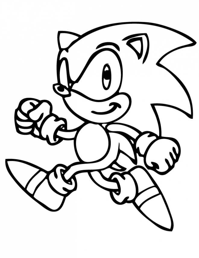 Coloriage et dessins gratuits Sonic gambade à imprimer