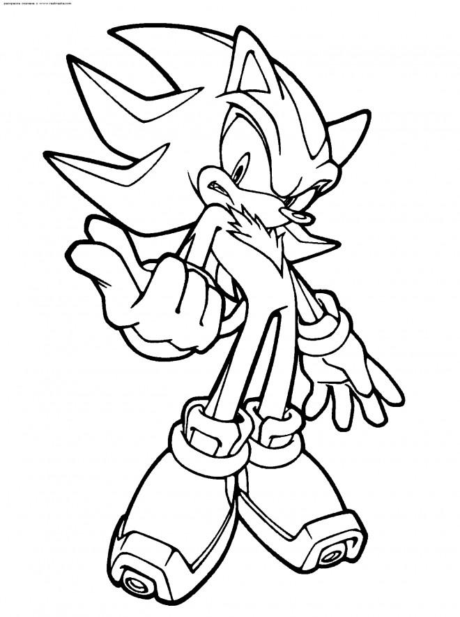 Coloriage Gratuit Sonic.Coloriage Sonic Shadow En Ligne Dessin Gratuit A Imprimer