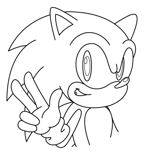 Coloriage sonic simple dessin gratuit imprimer - Dessin anime sonic ...
