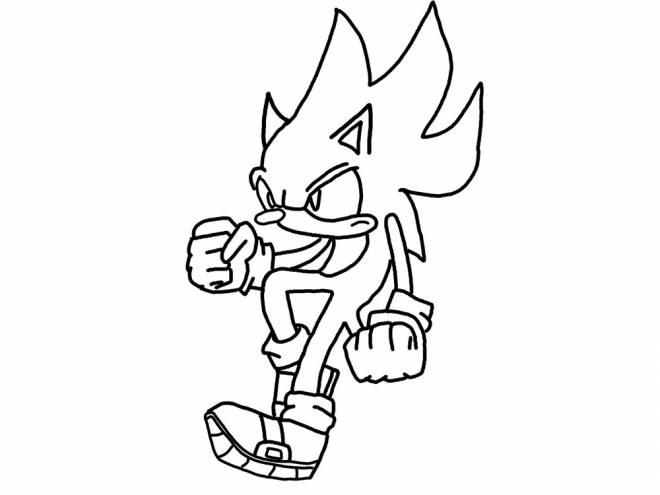 Coloriage et dessins gratuits Sonic très en colère à imprimer