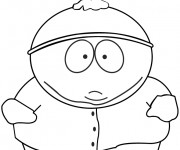 Coloriage Eric de South Park déçu