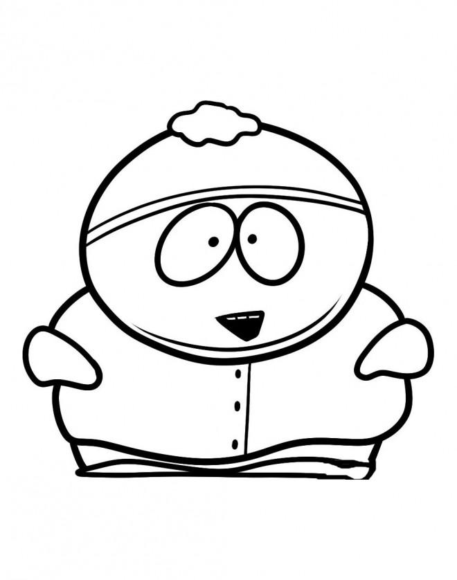 Coloriage et dessins gratuits Eric en ouvrant sa bouche dessin animé à imprimer