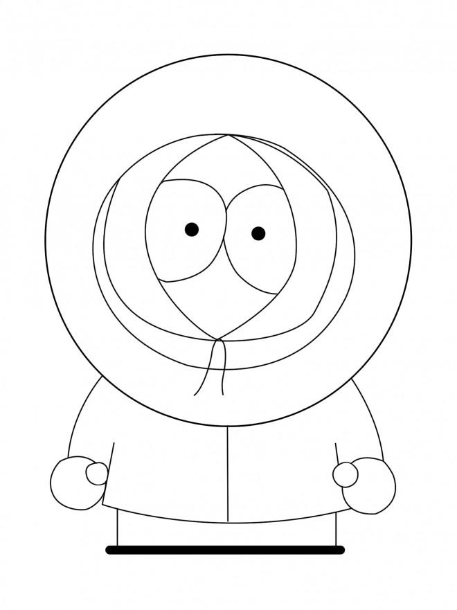 Coloriage et dessins gratuits Kenny enfant de South Park à imprimer