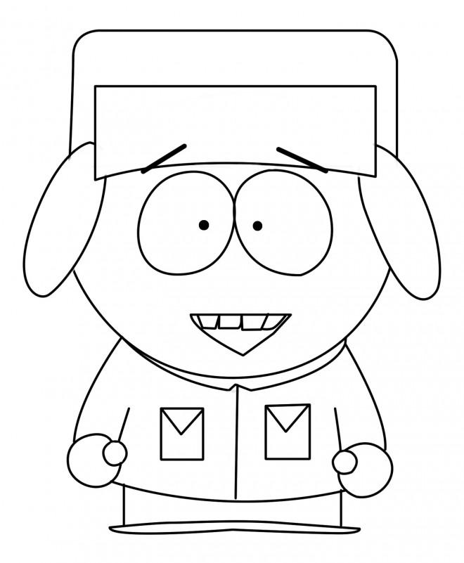 Coloriage et dessins gratuits Kyle Broflovski en souriant facile à imprimer