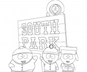 Coloriage Les enfants de South Park dessin