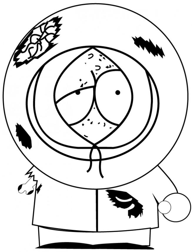 Coloriage et dessins gratuits Matt Stone blessé facile à imprimer