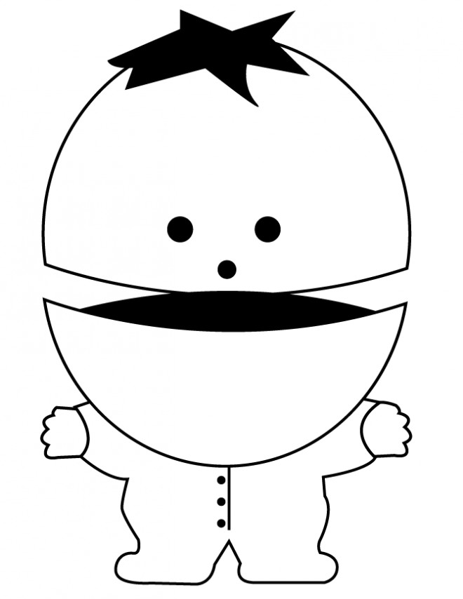 Coloriage et dessins gratuits South Park dessin sur ordinateur à imprimer