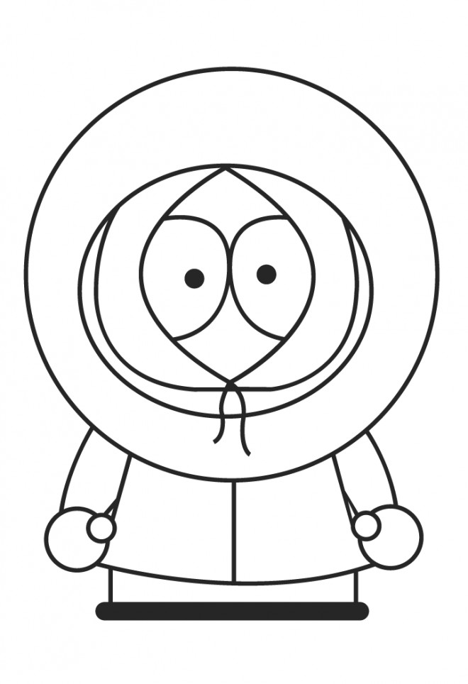 Coloriage South Park Kenny McCormick