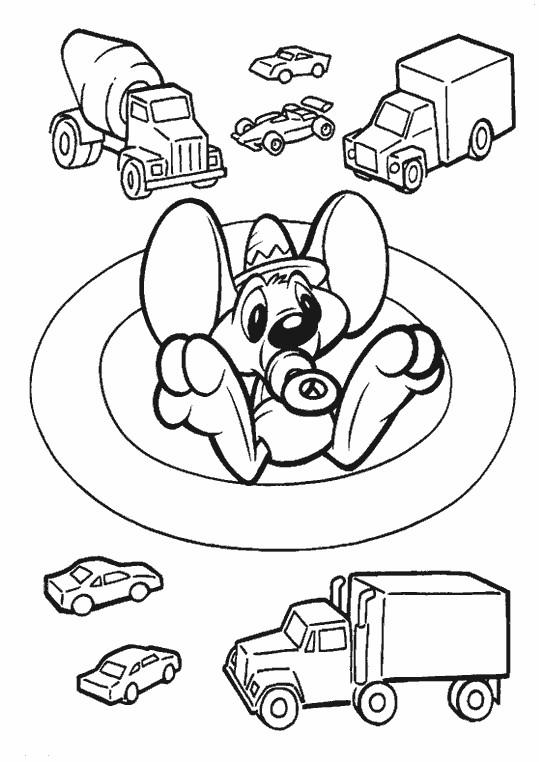 Coloriage Speedy Gonzales bébé dessin gratuit à imprimer
