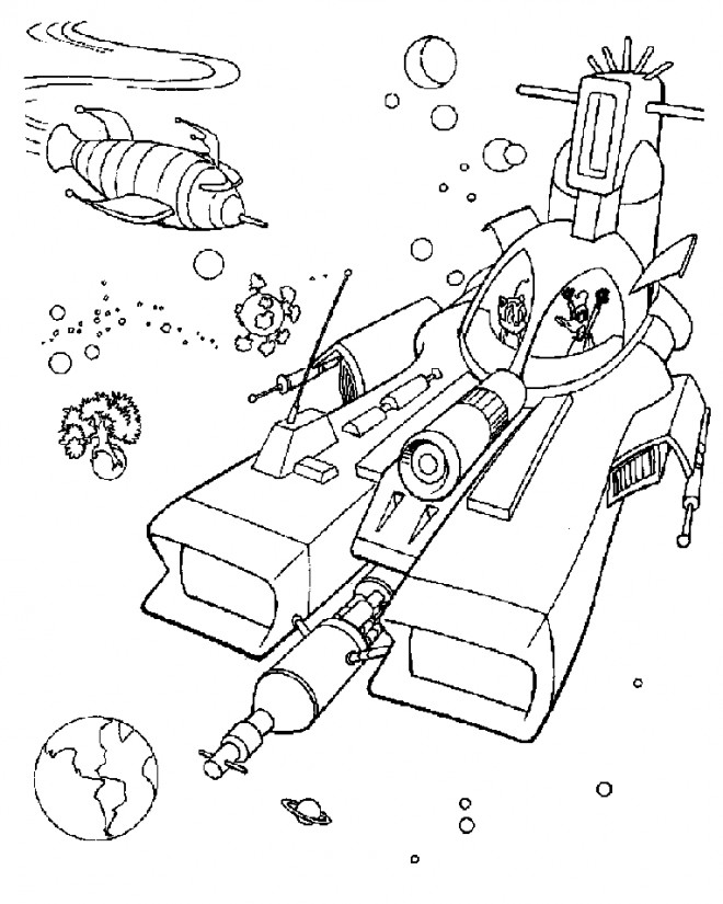 Coloriage et dessins gratuits Speedy Gonzales en mer à imprimer