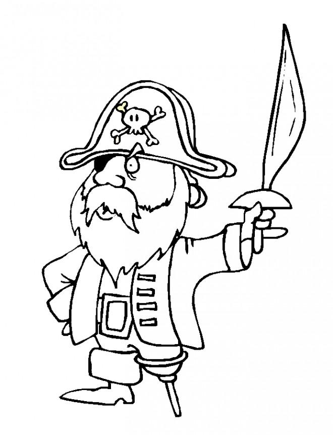 Coloriage et dessins gratuits Speedy Gonzales le pirate à imprimer