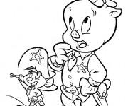 Coloriage et dessins gratuit Speedy Gonzales Le sherif à imprimer